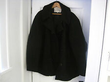 Vintage Men's United States Navy Wool Blue 3 Button Pea Coat Size XL-USA Made!!