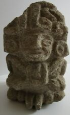 ANTIQUE AZTEC MAYAN   RELIC STATUE SCULPTURE STONE CARVING PRIMITIVE ICONIC OLD
