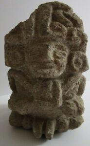 ANTIQUE AZTEC MAYAN   RELIC STATUE SCULPTURE STONE CARVING PRIMITIVE ICONIC OLD