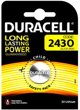 1 x Duracell CR2430 3V Lithium Coin Cell Battery DL2430 K2430L 2430 LONG EXPIRY