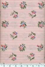 Garden Twist Anniversary Roses On Pink Quilt Fabric - Free Shipping - 1 Yard
