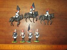 c.1970s 1/32 Britains Ceremonial Horse Guards / Blues . 3 mounted ,4 foot (NOV B