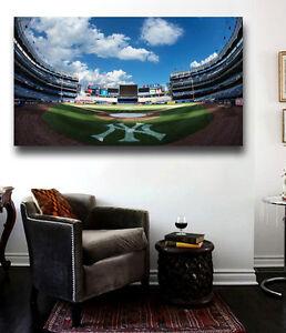 Insane Yankee Stadium Canvas Print- 36 x 24 Field Level Panoramic Homeplate View