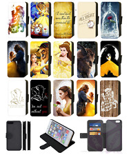 BEAUTY and the BEAST Disney Wallet Flip Phone Case iPhone 4 5 6 7 8 Plus X comp