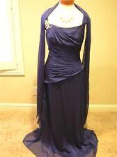 NWOT JADE JASMINE MOB Mothers social occasion formal Long dress Blue chiffon  10