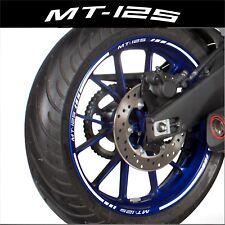 LISERETS JANTES MT125 MT 125 MOTO STICKERS kit pour 2 jantes 40 couleurs