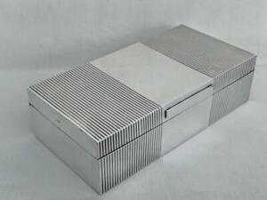 Outstanding Art Deco Sterling Silver Cigarette Box By Mappin & Webb London 1946