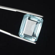 16 mm Aquamarine Emerald Cut 16.50 Ct Faceted Brazilian Loose Gemstone BM-033