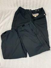 Vintage Men's Black Obermeyer Ski Snowboard Pants Gore-Tex Size Small Full Zip