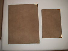 Robert Bosch Suede Notepad Holder Set - Letter Size & Notepad Size