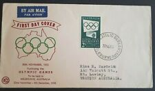 1955 Australia Stamp Fdc - 2$ Melbourne Olympics - 30/11/65 Airmail