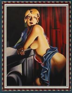 "ART OIL PAINTING REPRO OF Tamara de Lempicka Portrait girl on canvas 24""x36"""