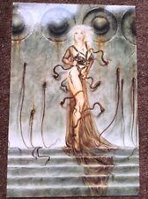 Luis Royo PRINT Fantasy Nude Art Erotic Pinup Sexy Tattoo Blonde Woman Warrior