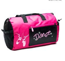Sansha Black & Fuchsia Child Ballet Dance Bag KBAG2 Multi pockets for shoes etc