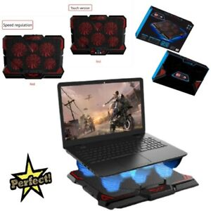 Gaming Laptop Cooler Cooling Fan Pad Stand Notebook 15.6 and 17 Inch Usb RGB Red
