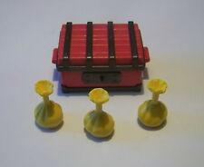 PLAYMOBIL (B2110) WESTERN SOLDATS - Coffre Rouge Noir & Sacs d'Or Transport 3785