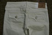 TRUE RELIGION BECKY 29X33  Jeans NWOT$235 Sexy White! Boot! Stretch! Logo Pocket