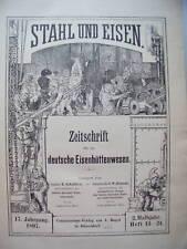 Stahl und Eisen 1897 Zeitschrift Eisenhüttenwesen 2.Hj.