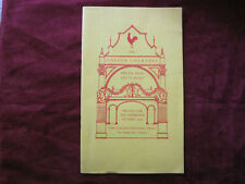 1937 GOLDEN COCKEREL PRESS CATALOGUE - RARE - ILLUSTRATED
