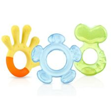 Nuby 3-STEP TEETHER SET 3m + SOOTHES STIMULATES & CLEANS GUMS Baby Care NEW NiB