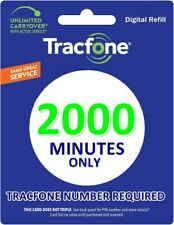TracFone 2000 Minutes for Smart Phones 24hr Refill Service