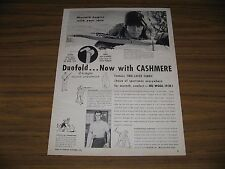 1954 Print Ad Duo-Fold Underwear Lee Wulff Bow Hunting Ted Williams