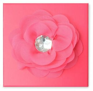 Square Pink Flower Gift Jewellery Box Packaging