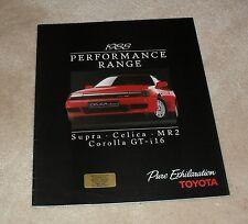 FOLLETO De Rendimiento Toyota 1988 Supra Celica GT cuatro Cabrio MR2 Mk1 corolla gti