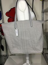 NEW Dressbarn City Zip Tote Handbag Purse Shoulder Bag Gray
