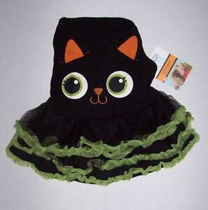 NWT Martha Stewart Pets Halloween Black Cat Dress Costume Owl Dog Large