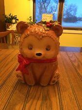Vintage Lefton Sleepy Holly Christmas Bear Cookie Jar