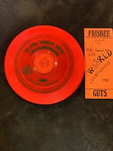 Wham-O 1988 11th GPA Worlds Guts Frisbee Championship Pro-model With Program