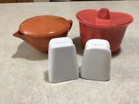 Vintage Branchell Colorflyte Melmac Lot ~ creamer Sugar Bowl Salt/pepper Shakers