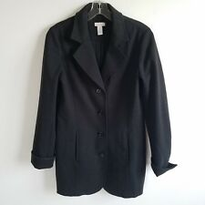 Chico's Charcoal Grey Lined Long Sleeve Peacoat Sz S