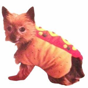 NWT Spooky Village Hot Dog Weiner Dog PET / DOG HALLOWEEN COSTUME - Size XS S M