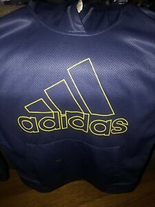 Adidas Long Sleeve Navy & Yellow Hoodie youth size L (14-16)