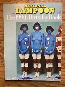 1975 NATIONAL LAMPOON the 199th BIRTHDAY BOOK HUMOR MAGAZINE CARTOONS FN-