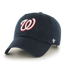 Washington Nationals '47 Brand Navy Blue Clean Up Adjustable Hat