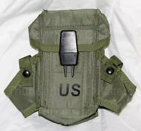 US Military ALICE Small Arms Ammo Ammunition Pouch w/ ALICE Clips USGI VGC