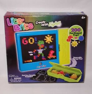 Lite-Brite #01786, 200 Pegs, Create With Light Kids Games Light Bright Toy EUC