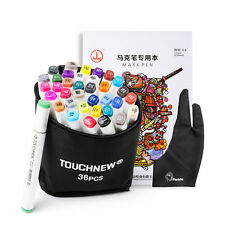 36 Colors Artist Double Sketch Markers Art Drawing Mark Pen Set+ Accessory