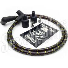 7MM SPARK PLUG WIRE IGNITION KIT CHOPPER  TRIUMPH HARLEY XS650 BLACK & YELLOW