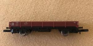 8610 Marklin Z-scale DB Low side flat bed freight car, Model Train