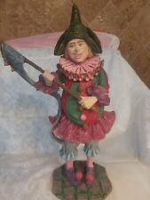 "Duncan Royale ""Pulcinella"" Figurine Collectors Edition History Of Clown,12 Inch"