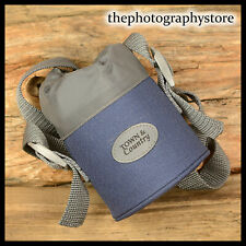 Town & Country Blue Padded bottle 4 carrying Nikon Canon 50mm 28mm sized lens