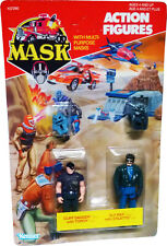 M.A.S.K. MASK Kenner  - Cliff Dagger & Sly Ray - 1986 - Collectible MOSC AFA IT!