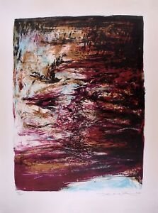 ZAO WOU-KI - Lithography Signed Numbered and dated 1968 - Composition #182