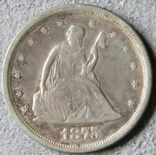 1875-S Twenty Cent Piece_Ungraded_VF/XF condition