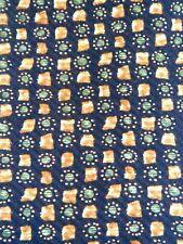Kenneth Cole Navy Square Circle Designer Men's Necktie Neck Tie Sleeved Silk USA