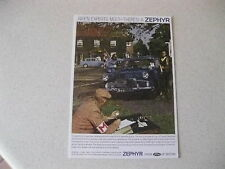 FORD ZEPHYR MK2  1960   POSTCARD OF AN ORIGINAL ADVERT NEW UNPOSTED